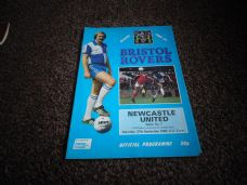 Bristol Rovers v Newcastle United, 1980/81